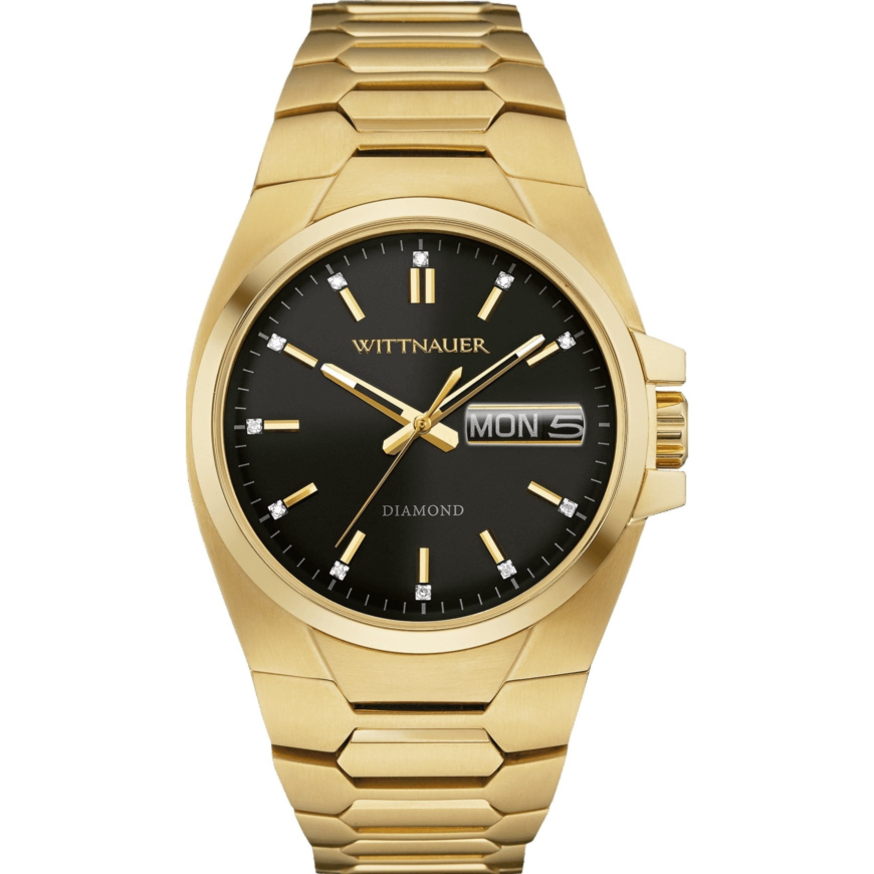 BULOVA Wittnauer Men's WN3059 Gold and Black Dial Watch (...