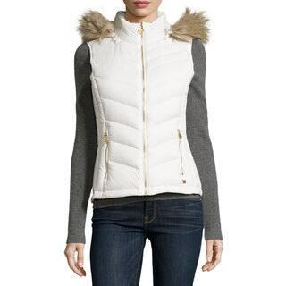 Michael Kors Women's Ivory Blend Hooded Puffer Vest|https://ak1.ostkcdn.com/images/products/13386441/P20084675.jpg?impolicy=medium