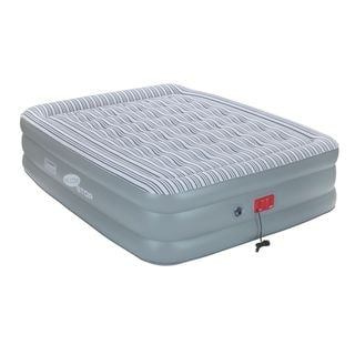 Coleman SupportRest Elite PillowStop Double High Airbed - Queen - Grey/White