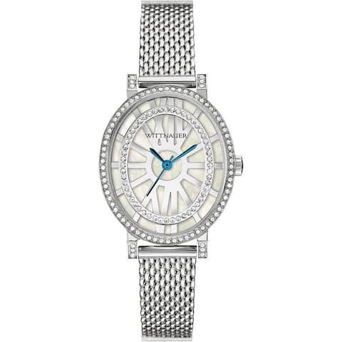 Wittnauer Women's Silver White MOP Bracelet Watch