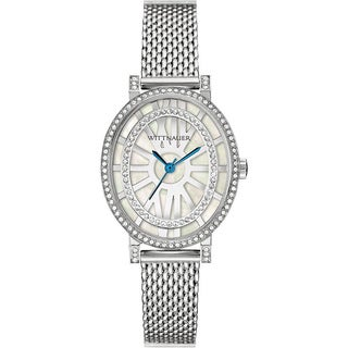 Wittnauer Women's WN4038 Silver White MOP Bracelet Watch