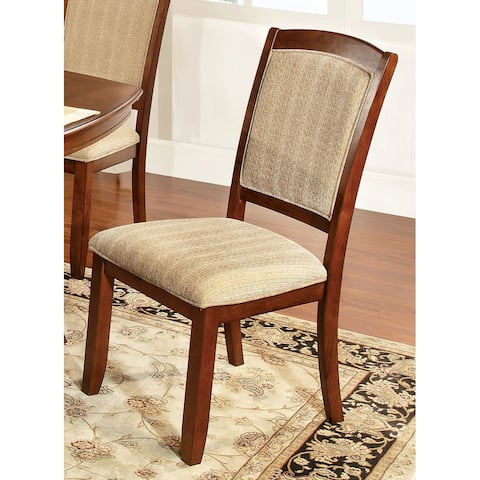 Furniture of America Oakley Transitional Style Padded Dining Chair (Set of 2)