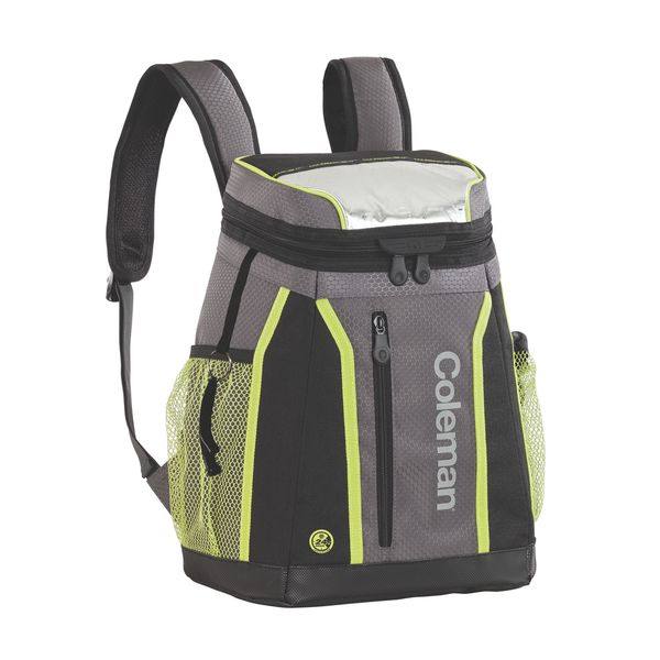 Coleman Ultra Ripstop Fabric 24 Hour 18 Can Backpack Cooler Grey