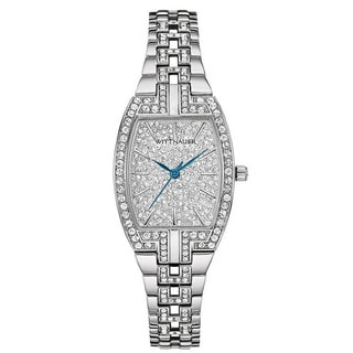 Wittnauer Women's WN4016 Silver PAVE Bracelet Watch
