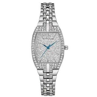 Wittnauer Women's WN4016 Silver PAVE Bracelet Watch