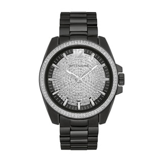 Mens Wittnauer Black PAVE Bracelet Watch WN3057