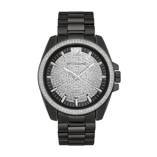 Wittnauer Men's WN3057 Black PAVE Bracelet Watch