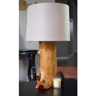 Pyper Marketing USA Made Ozark Natural Brown Finish Cedar Table Lamp