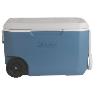 Coleman Xtreme Plastic and Foam 62-quart 5-wheeled Cooler - Blue