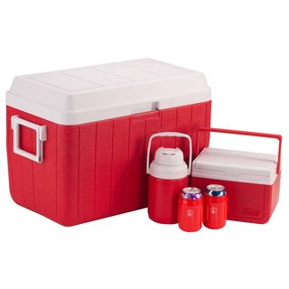 Coleman Red/White 5-Piece 54-quart Cooler Combo