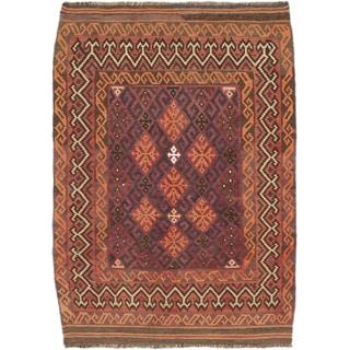 Ecarpetgallery Sivas Red Wool Kilim (3'4 x 4'9)