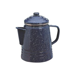 Coleman Blue Enamel and Stainless Steel 9-cup Percolator