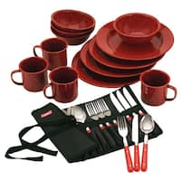 Coleman Red Enamel Dinnerware (24-piece Set)