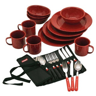 Coleman Red Enamel Dinnerware (24-piece Set)