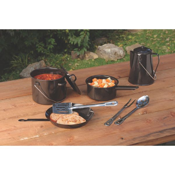 Coleman Enamel 8-piece Cooking Set