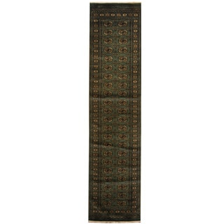 Herat Oriental Pakistan Hand-knotted Bokhara Wool Runner (2'6 X 10'6)