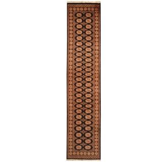 Herat Oriental Pakistan Hand-knotted Bokhara Wool Runner (2'6 X 11'9)