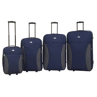 Rivolite 4-pice Expandable Rolling Luggage Set