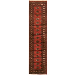 Herat Oriental Pakistan Hand-knotted Bokhara Wool Runner (2'6 X 10')