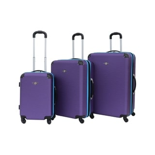 Rivolite 3-piece Two-tone Hardside Spinner Luggage Set