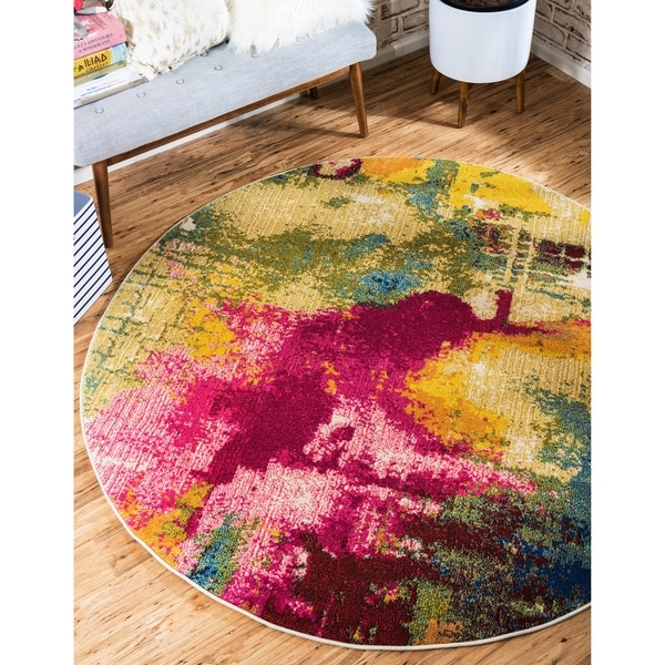 Unique Loom Barris Barcelona Round Rug - 8' 0 x 8' 0