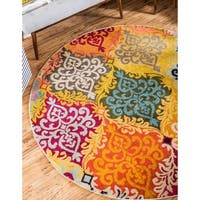 Unique Loom Roswell Barcelona Round Rug