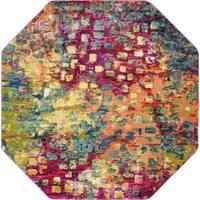 Unique Loom Barcelona Multicolor Area Rug (8' x 8')