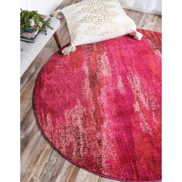 Unique Loom Lilly Jardin Round Rug - 8' x 8'