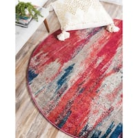 Unique Loom Lilly Barcelona Round Rug