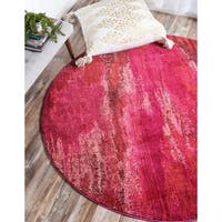 Unique Loom Lilly Jardin Round Rug - 6' x 6'