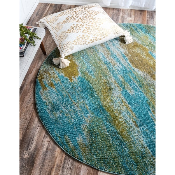 Unique Loom Lilly Barcelona Round Rug - 6' x 6'