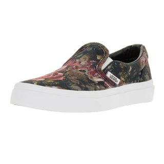 Vans Kids' Classic Slip-on Moody Floral Black Canvas Skate Shoes