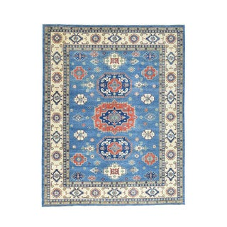 Hand-Knotted Wool Kazak Tribal Design Oriental Rug (9'3x11'10)