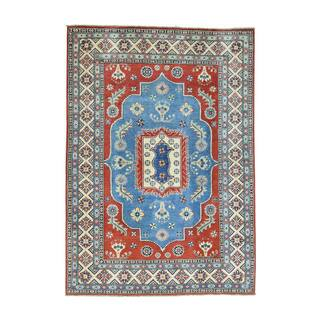 Wool Hand-Knotted Tribal Design Kazak Rug (5'1x7'3)|https://ak1.ostkcdn.com/images/products/13387891/P20085474.jpg?impolicy=medium