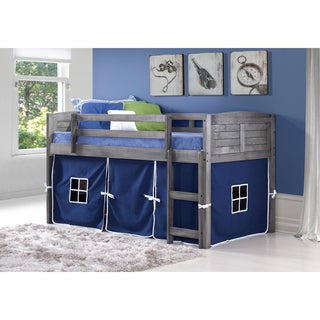 Donco Kids Twin Louver Low Tent Loft in Antique Grey  sc 1 st  Overstock.com & Grey Kidsu0027 u0026 Toddler Beds For Less | Overstock.com