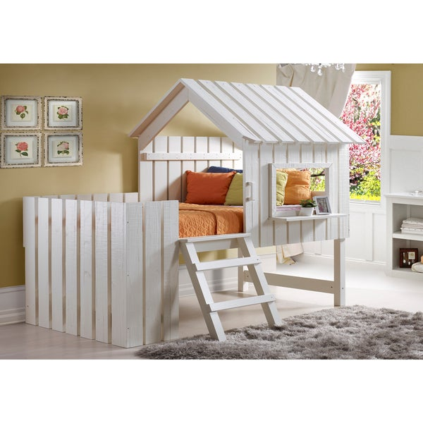 Shop Donco Kids 2-in-1 Cabana Loft Bed And Play House In