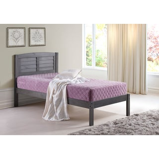 Donco Kids Louver Bed in Antique Grey Finish (Twin or Full)