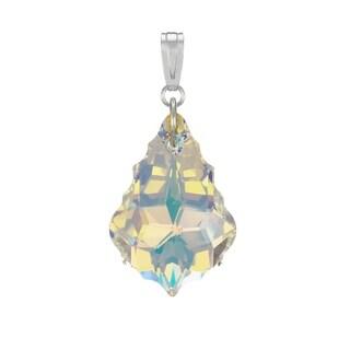 Jewelry by Dawn Aurora Borealis Swarovski Crystal Baroque Sterling Silver Pendant