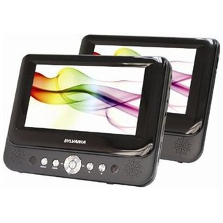 Sylvania Black 7-inch Dual Screen Portable DVD Player