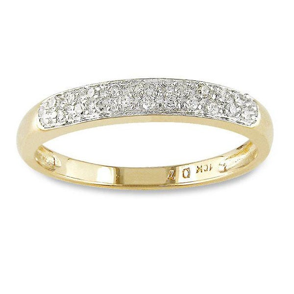 Miadora 10k Gold and Diamond Accent Band (G-H, I2-I3)