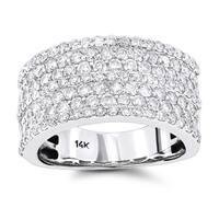 Luxurman 14k Gold 2ct TDW 7-row Diamond Ring