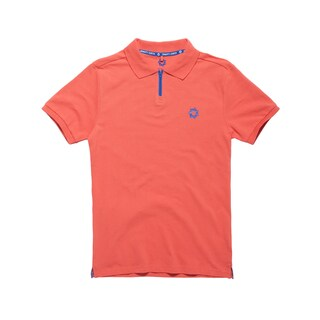 Gravity Check Men's Omnium Emberglow Orange Cotton Polo Shirt