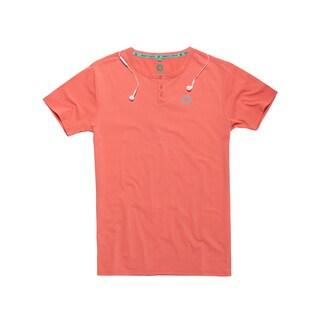 Gravity Check Men's Wheelie Emberglow Orange Cotton T-shirt