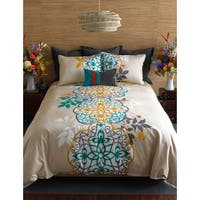 Blissliving Home Shangri La 3 Piece Cotton Duvet Cover Set