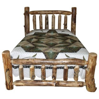 Rustic Aspen Log Twin Mission Style Complete Bed
