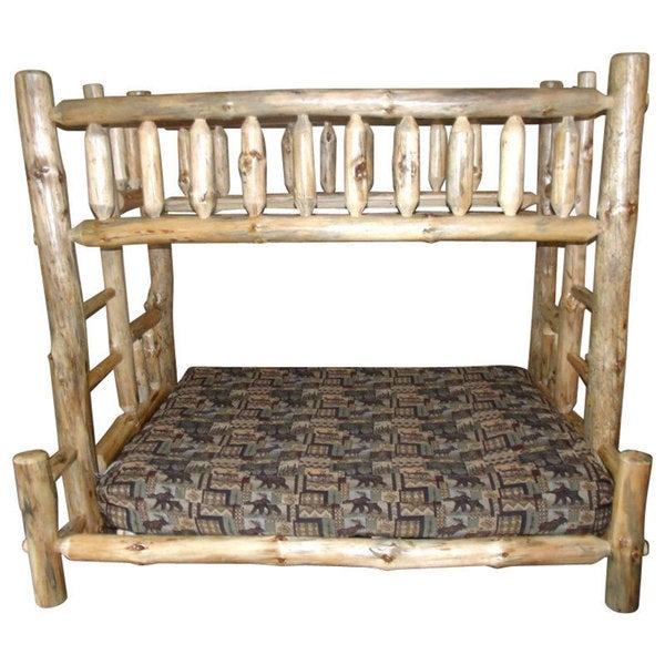 Shop Rustic Aspen Log Mission Style Twin Over Full Bunk Beds On
