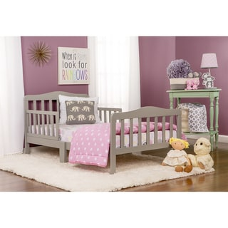 Dream On Me, Classic Design Toddler Bed - gray