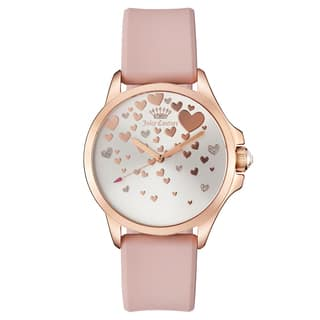 Women's 1901450 Goldplated Watch with Pink Silicon Strap|https://ak1.ostkcdn.com/images/products/13390511/P20087986.jpg?impolicy=medium