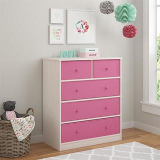 Altra Applegate Storage Chest with 5 Pink Fabric Bins by Cosco