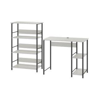 Altra Garrett Metal Student Desk and Bookcase Combo